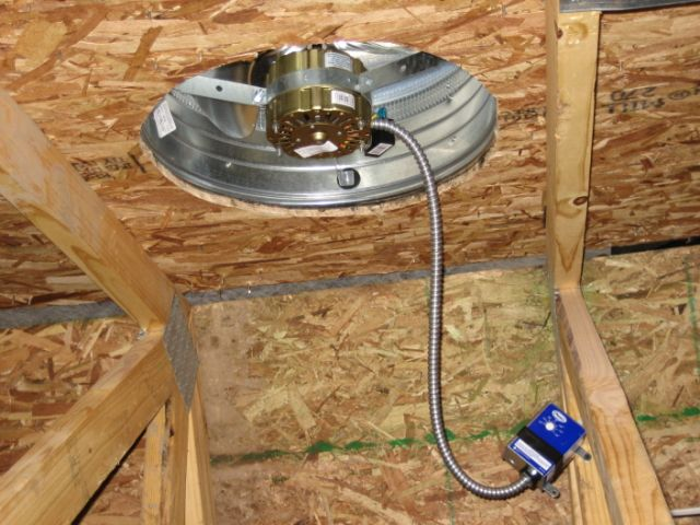 Can Fan Installation : Attic ventilation silver spring md sealing and insulating